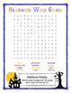 Halloween Word Activities (5th/6th)