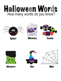 Halloween Word Activity