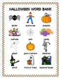 Halloween Word Bank