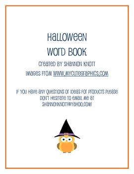 Halloween Word Book