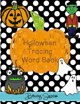 Halloween Tracing Word Book