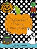 Halloween Tracing Word Book