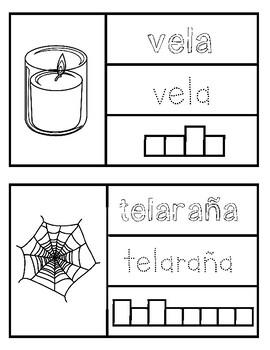 Halloween Word Book en Español - Mi pequeño libro de Halloween