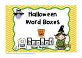 Halloween Word Boxes
