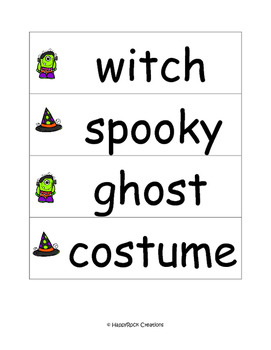 Halloween Word Cards
