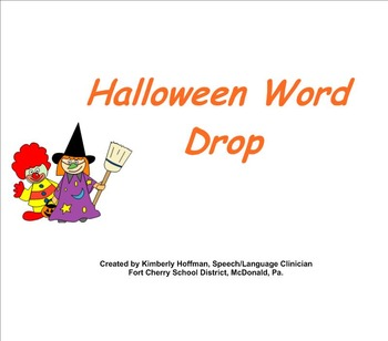 Halloween Word Drop