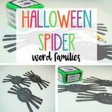 Halloween Word Families: Roll a Word Family Craftivity