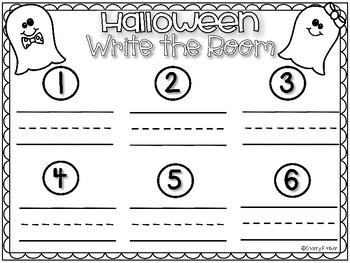 Halloween Word Family Write the Room