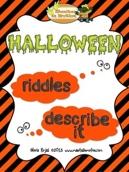 Halloween – Word Finding Riddles and Object Description Activities