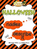 Halloween – Word Finding Riddles and Object Description Ac