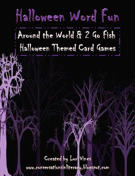 Halloween Word Fun:  2 Go Fish Word Games and Around the World