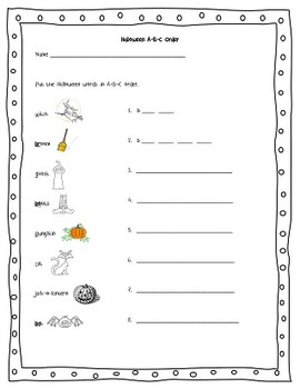 Halloween Activity pages first and second grade