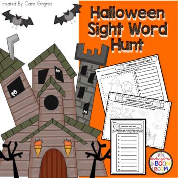 Halloween Sight Word Hunt - Center Activity - Word Work