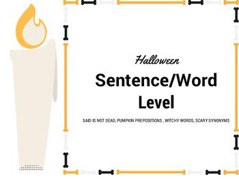 Halloween Word Level FUN!