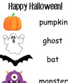 Halloween Word List