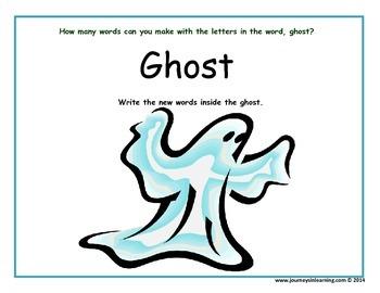 Halloween Word Makes