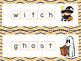 Halloween  Word Mats