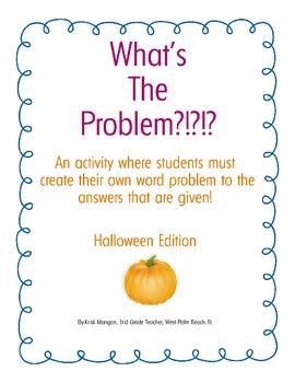 Halloween Word Problem Activity