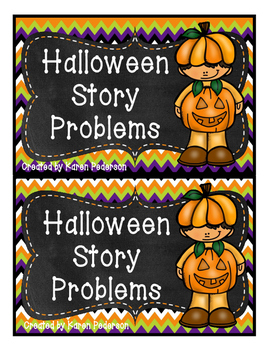 Halloween Word Problem Game/Cards