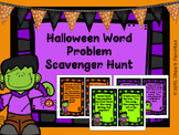 Halloween Word Problem Scavenger Hunt