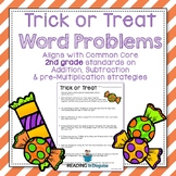 Halloween Word Problems: 2nd Grade