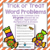 Halloween Word Problems: 3rd Grade