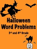 Halloween Word Problems- 3rd and 4th Grade