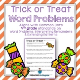 Halloween Word Problems: 4th Grade