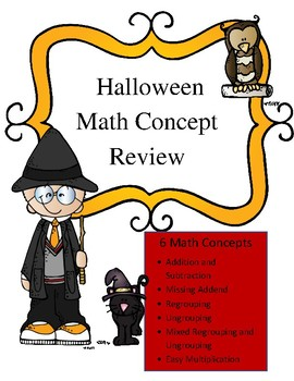 Halloween Word Problems: 6 Concept Review