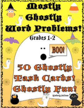 Halloween Math Word Problems! First and Second grade! Centers!  Early Finishers!