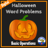 Halloween Math Word Problems w/ Easel Activity