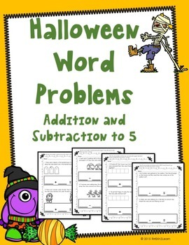 Halloween Word Problems Numbers to 5