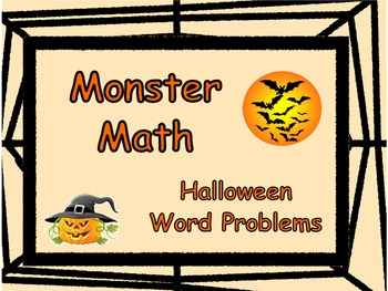Monster Math: Halloween Word Problems