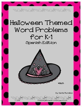 Halloween Word Problems SPANISH EDITION