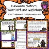 Halloween Stations, Powerpoint and Worksheet