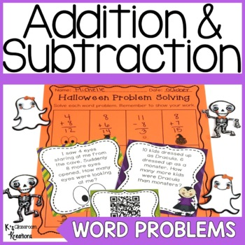 Halloween Word Problems to 20