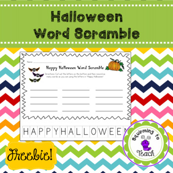 Halloween Word Scramble