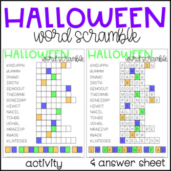 halloween word scramble halloween word scramble