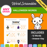 Halloween Word Scrambles - 2 Worksheets!