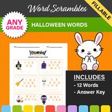 Halloween Word Scrambles - 2 Worksheets!