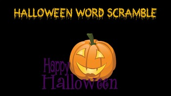 Halloween Word Scramble Activity