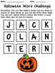 Halloween Word Scramble Challenge