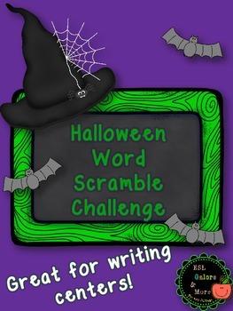Halloween Word Scramble Challenge