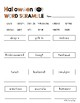 Halloween Word Scramble/Unscramble the Halloween Words