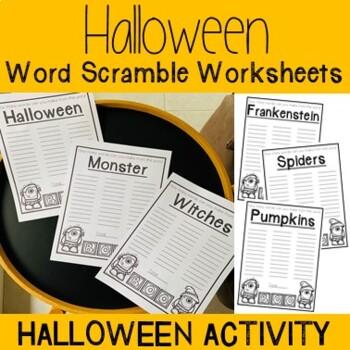 Halloween Word Scramble Worksheets