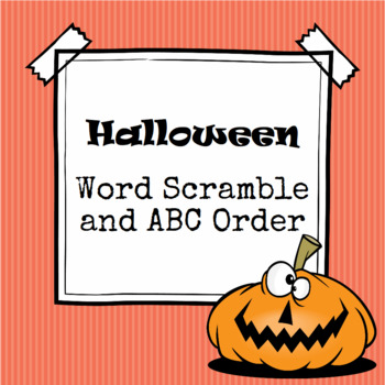 Halloween Word Scramble and ABC Order Cut and Paste