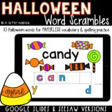 Halloween Word Scrambles DIGITAL
