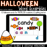 Halloween Word Scrambles DIGITAL | Distance Learning