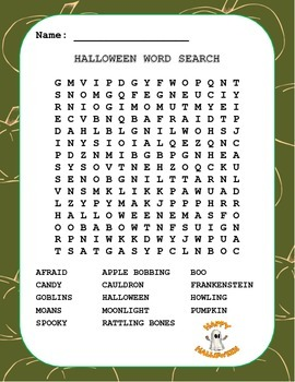 Halloween Word Search  - 3 separate word searches using Halloween Words.