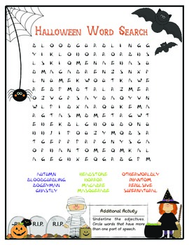 Halloween Word Search (5th / 6th)